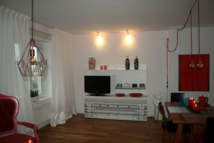 Klimatyczny apartament w centrum Bydgoszczy 60 m2 - Bydgoszcz - Appartement