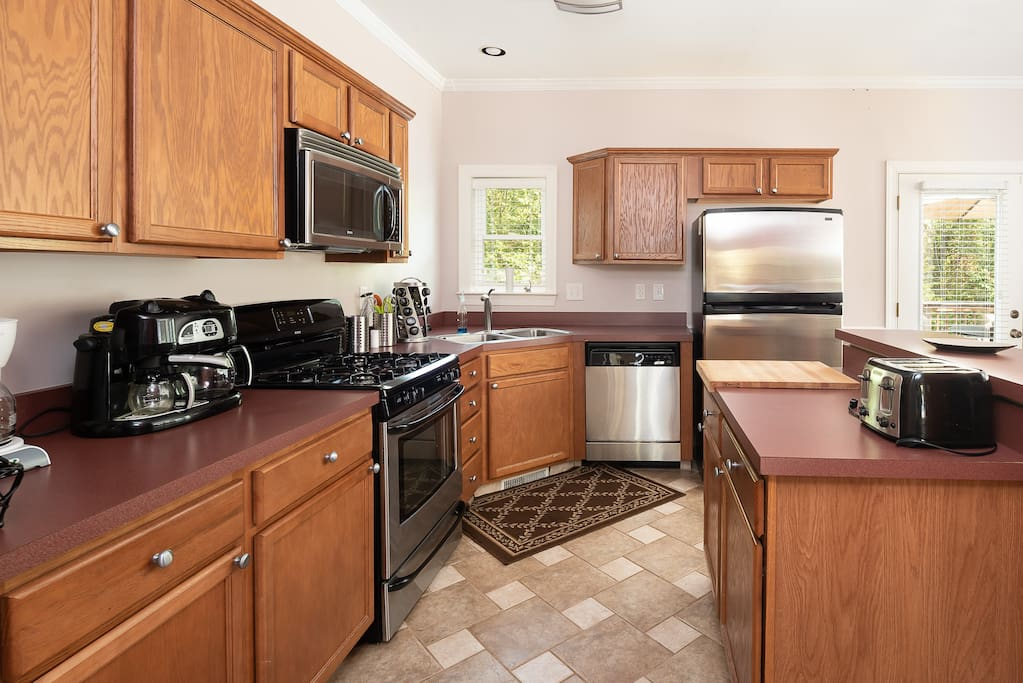 Kitchen has all appliances and Gadgets