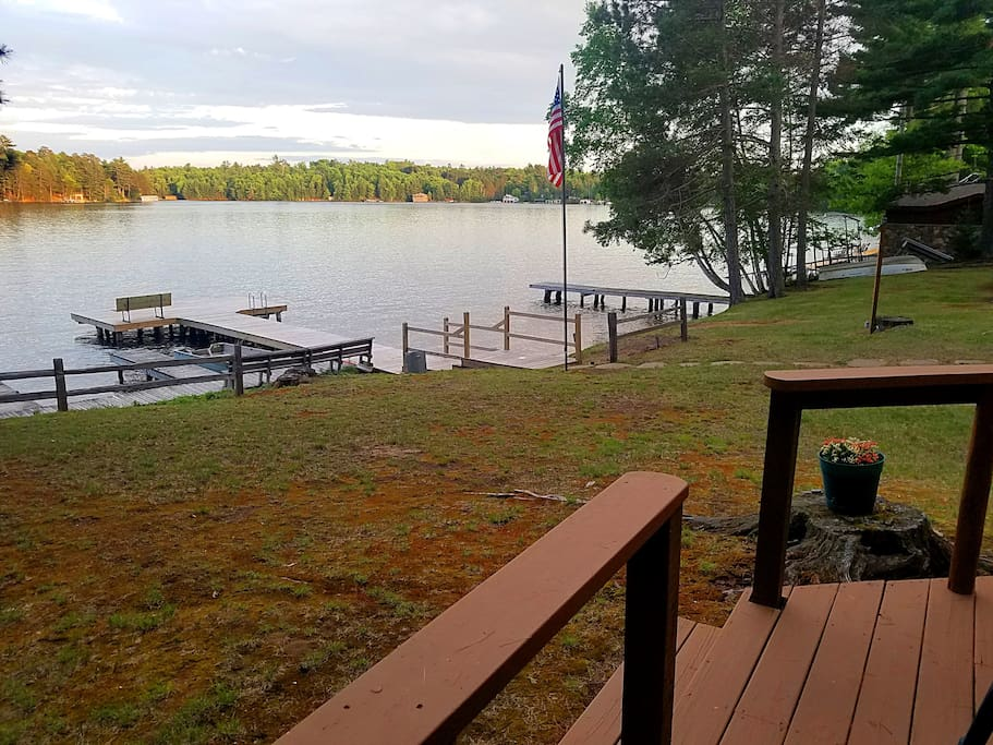 The deck view of Lake Minocqua