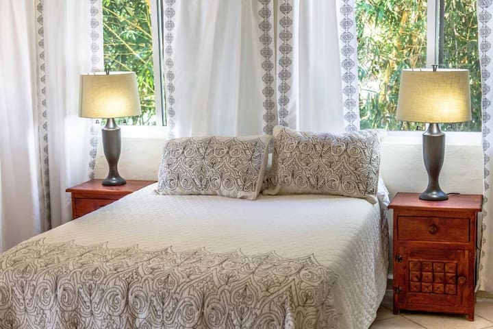 Chac Mool Suite @ Mayan Villas Hotel  is located on the ground floor of the property. This unit is the perfect place for a couples or singles and provides the space and comfort you need. You will love the elegant decor and modern amenities here.