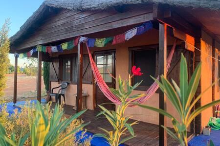 Casa de madera Almendro en bonita finca ecológica
