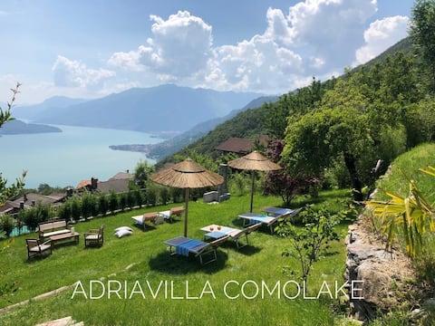 Elegant suite with lake view of Como