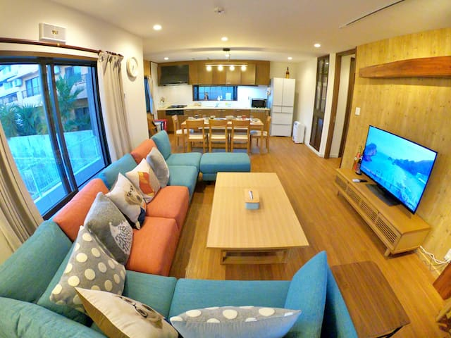MARU HOUSE 5rooms3bath/NETFLIX/BBQ/up to 18ppl
