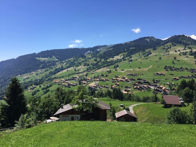 Chalet in mountain village only 7km to Interlaken.