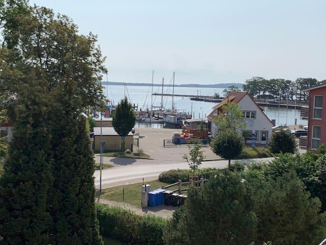"FeWo""Boddenblick"" direkt am Hafen-Perfekt für Zwei"