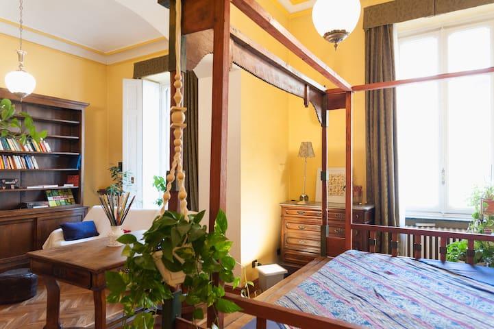 Bright private room w.bathroom, near the center - Torino - House