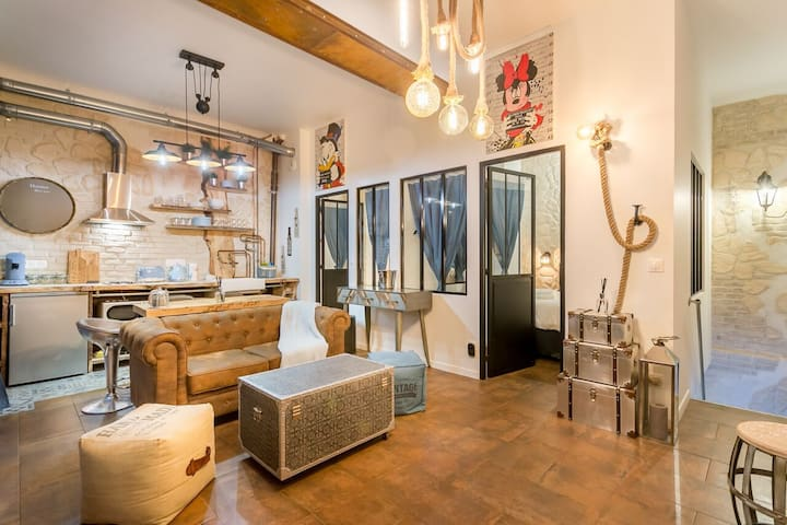 AMAZING DUPLEX IN THE HEART OF MONTMARTRE 4/6P