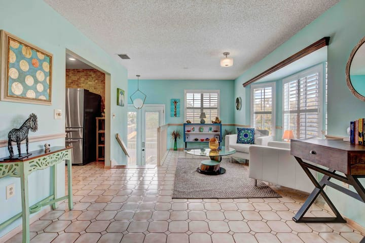 Enter from the front doors and you will be greeted with an open floor plan and warm, inviting decor.