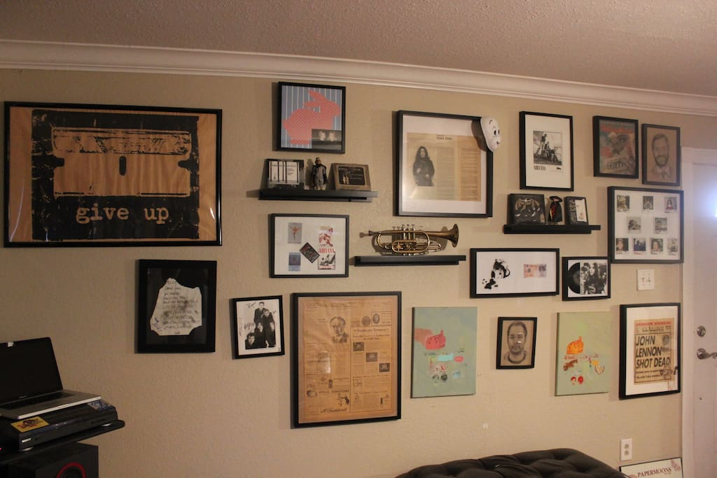 Another wall with pop culture memorabilia.