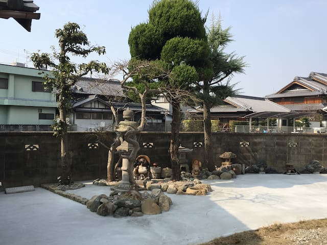 City Camping site at Trad. Japanese house garden 1