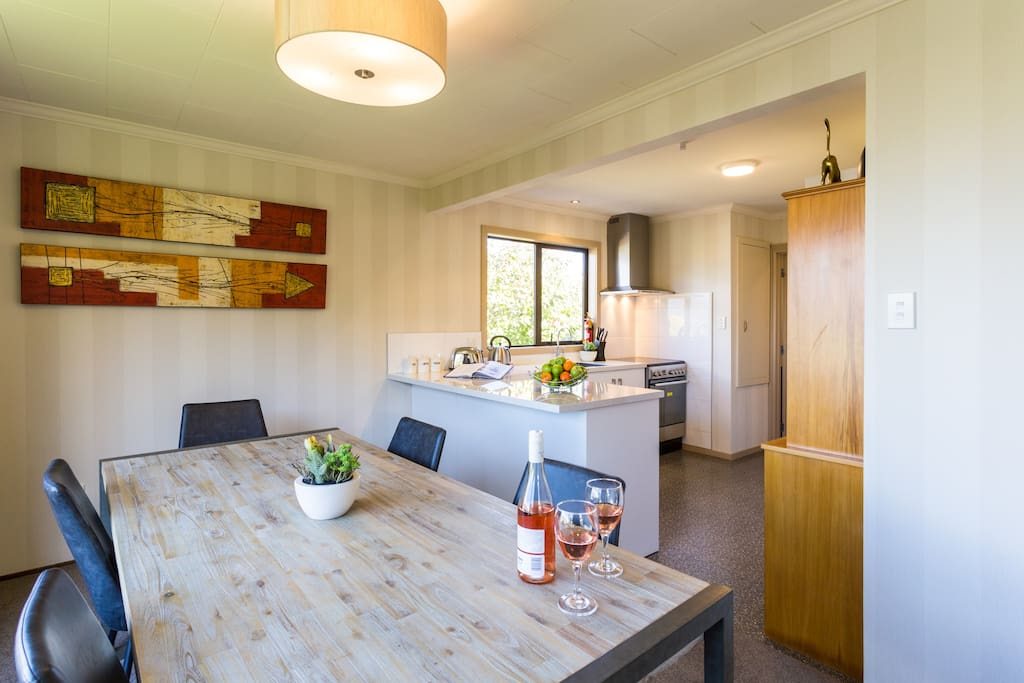 Fully equipped family kitchen with everything needed for a great stay.