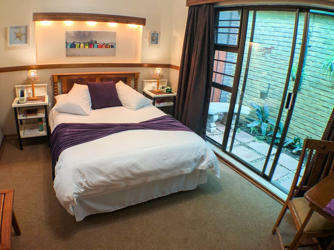 Small Family unit with a double bed and two single beds