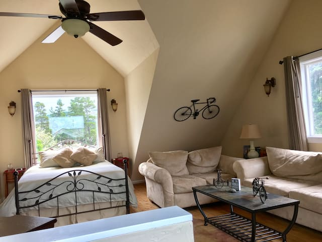Private entrance Ocean view Suite,1 dog free,bikes