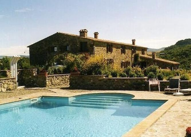 Val d'Orcia with swimming pool