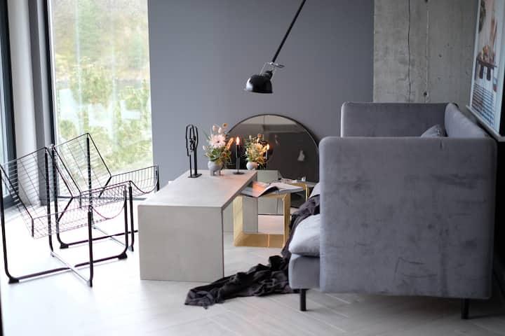 Eksklusiv leilighet. Innredet av interiørdesigner.