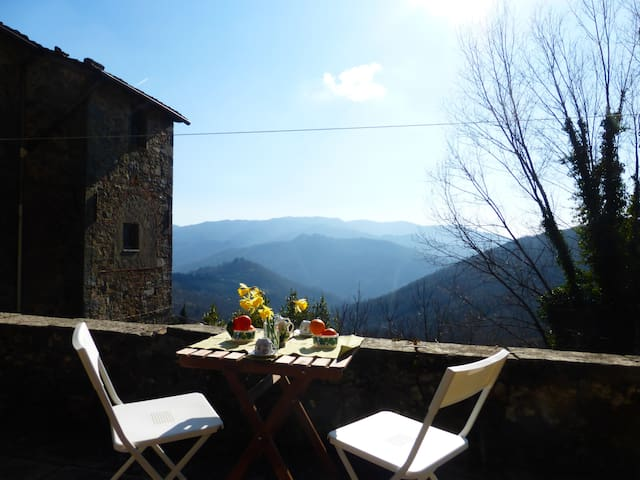 Rustic flat in Tuscany hills - Longoio-mobbiano - Apartment