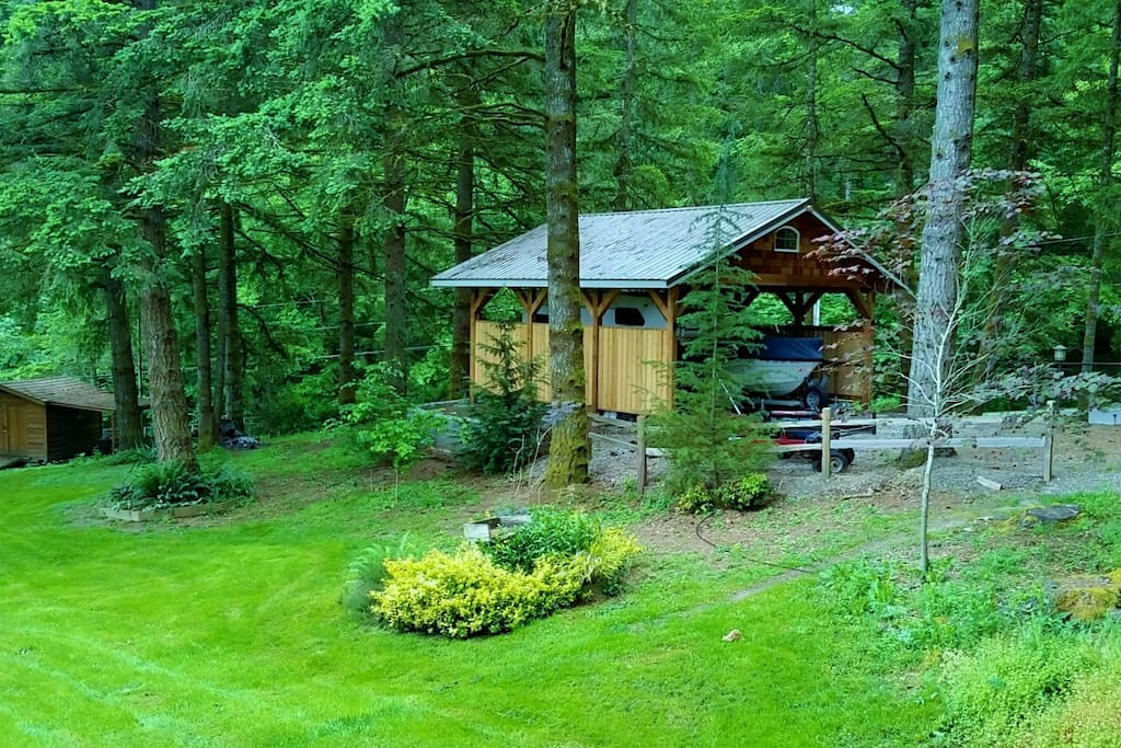 Located on a peaceful 3/4-acre wooded setting.