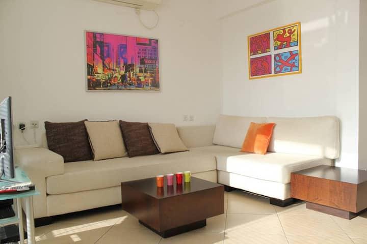 ~~QUIET near Ben Gurion Blvd/Sunny 1bdms Apartment