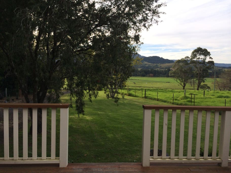 View from the north facing front verandah