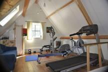 Fitness ruimte op eerste etage