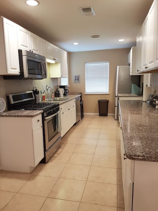 Kitchen has lots of counter space and has a little breakfast nook in the corner!