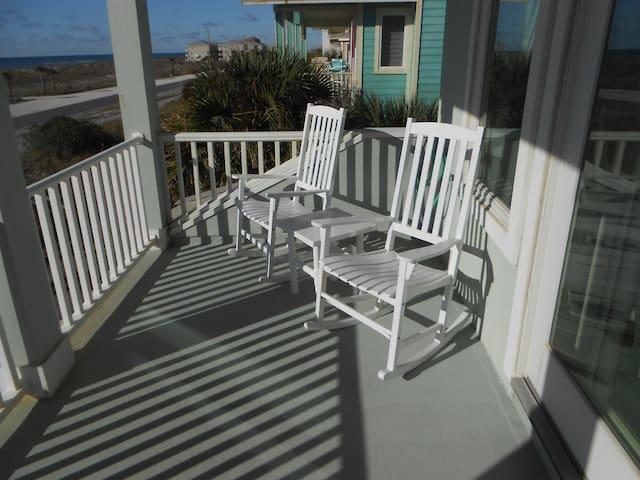 Master bedroom balcony overlooking beach