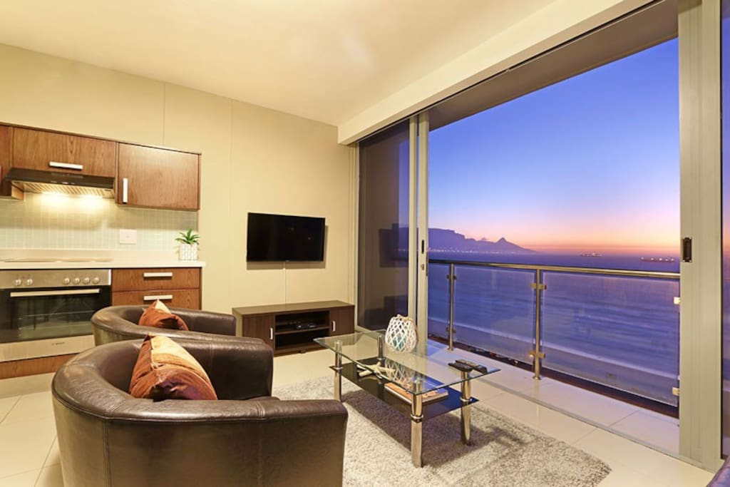 Lounge area with views of Table Mountain