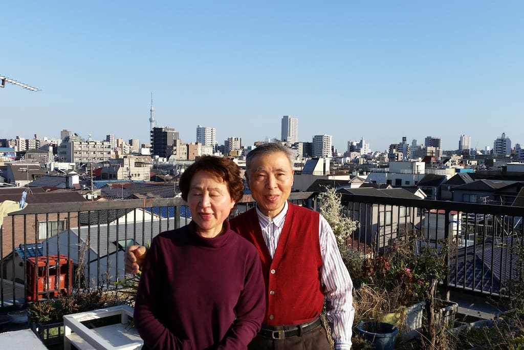 Hosts,Tom & Kimiko, are waiting for  guests from all over the world.