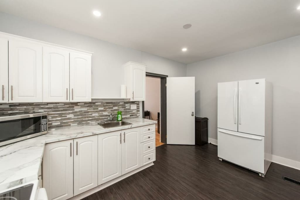Kitchen and access to a room!