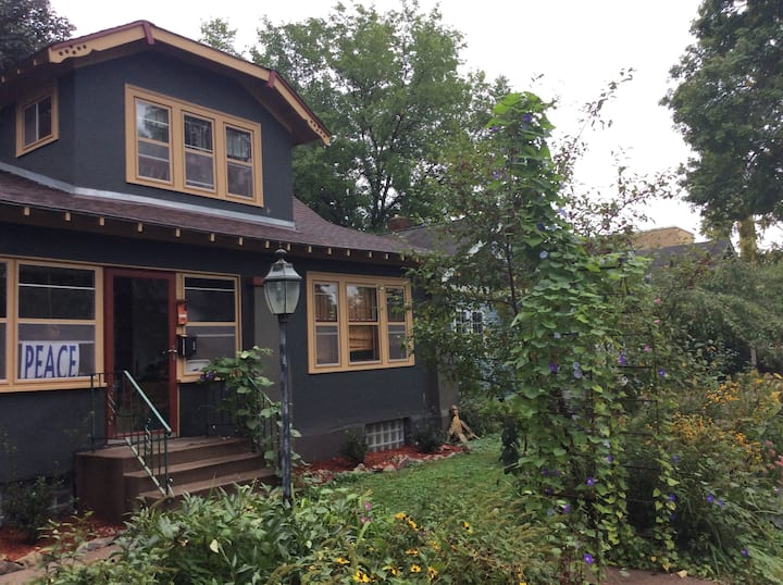 Near U of M - artistic bungalow in great location.