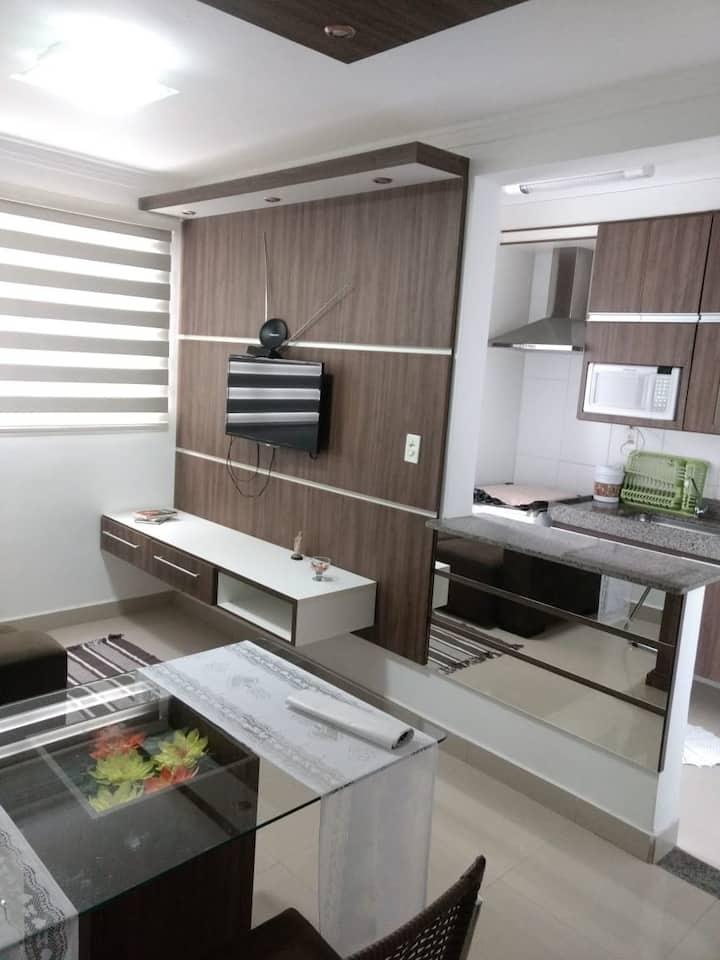 Apartamento inteiro mobiliado.
