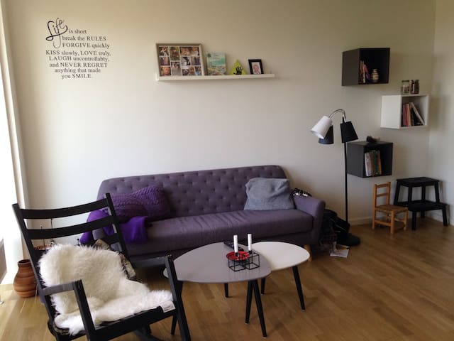 Stor og lys lejlighed med altan - Søborg - Apartmen