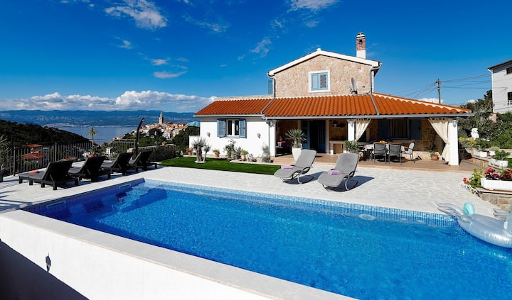 Holiday home Mela with pool and sea view