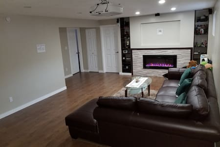 The whole basement with 3 big bedrooms