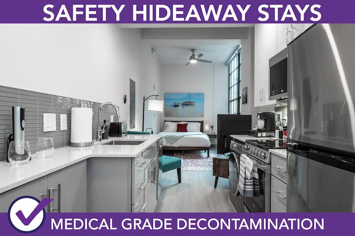 Safety Hideaway - Medical Grade Clean Condo - Heart of Business District # 406