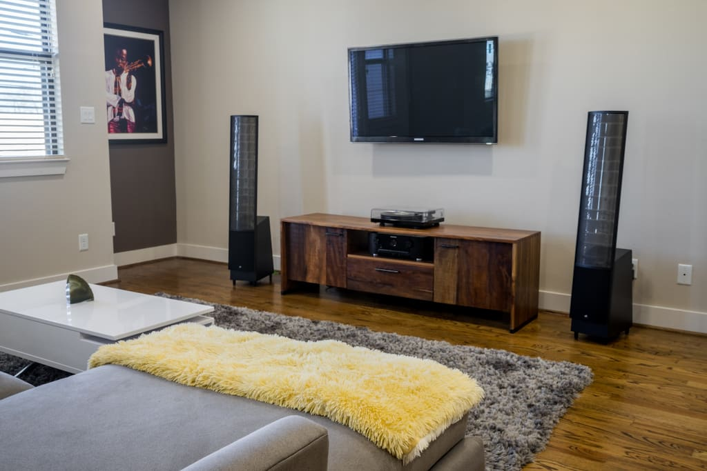 High fidelity sound system which include surround sound through out the house