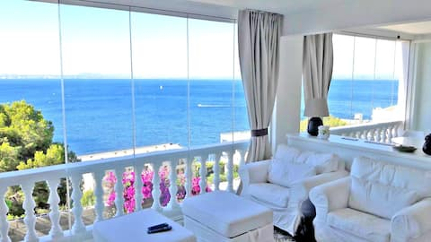 Breathtaking Costabrava seaview apartment 5m beach