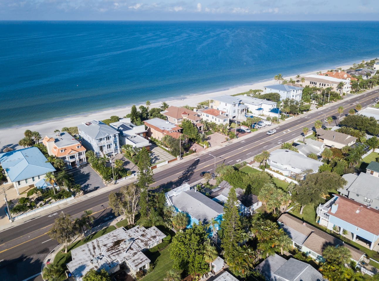 Aerial shot of house location! Right at the beach!  Plenty of water for swimming, fishing, boating or just playing in the sun!