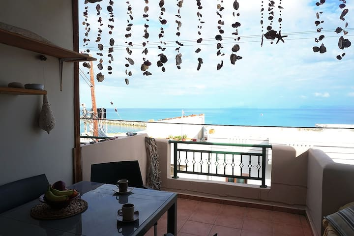1AG50 Amazing Sea view Home near Chania - Kolimvari - Hus