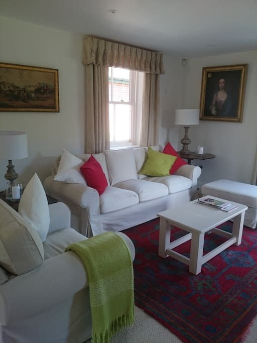 Sitting room with views over the walled garden