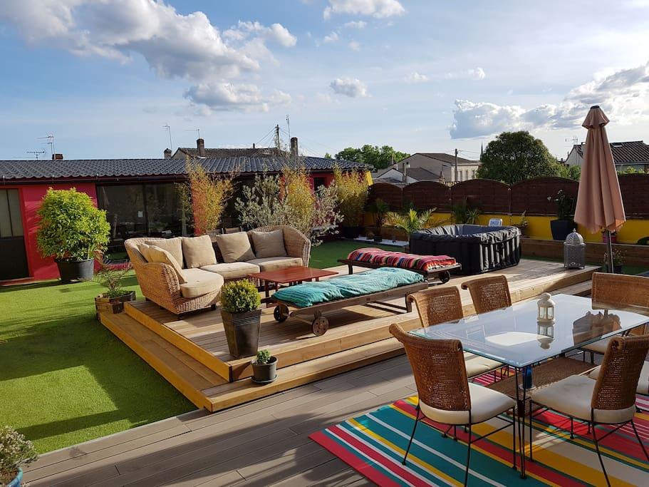 Belle maison avec terrasse de 150m2 maisons louer for Location bordeaux terrasse