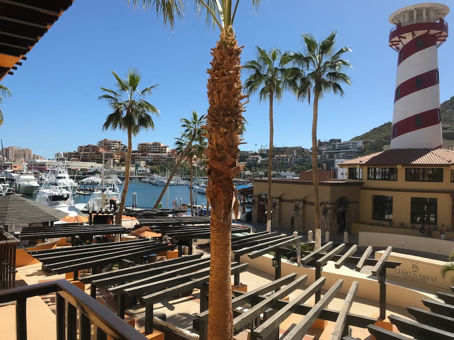 View of the marina from patio