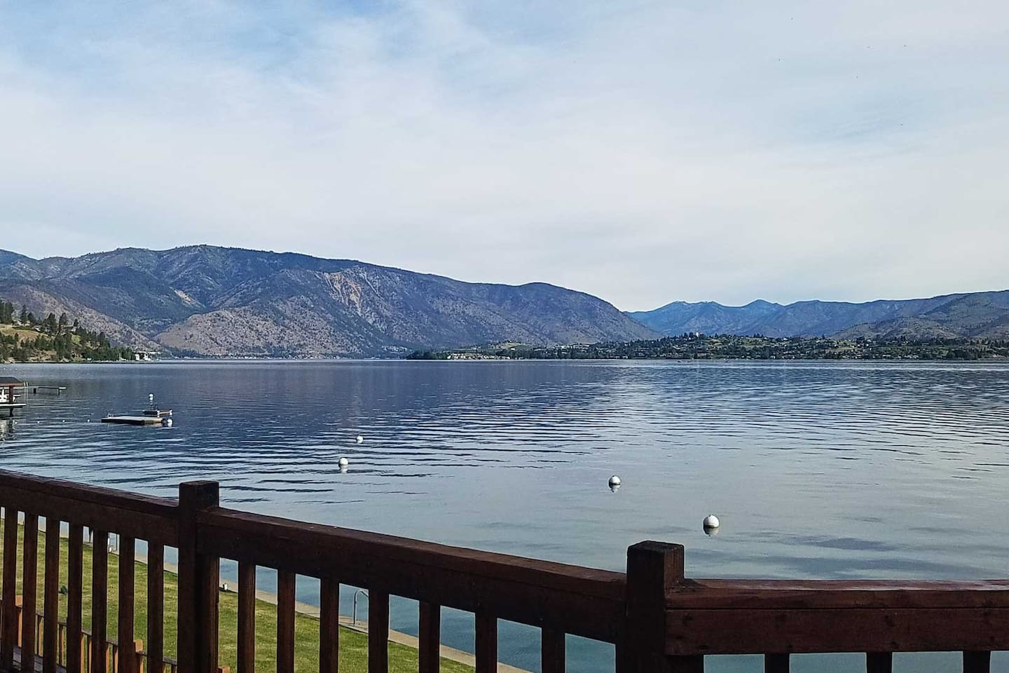 Gorgeous view from the deck of this home