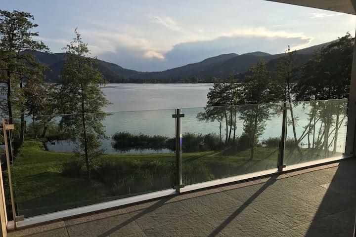 Waterfront Lake Lugano Wood