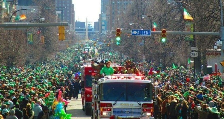 St Patricks day parade(always ranked in top 5 city parades in the United States)