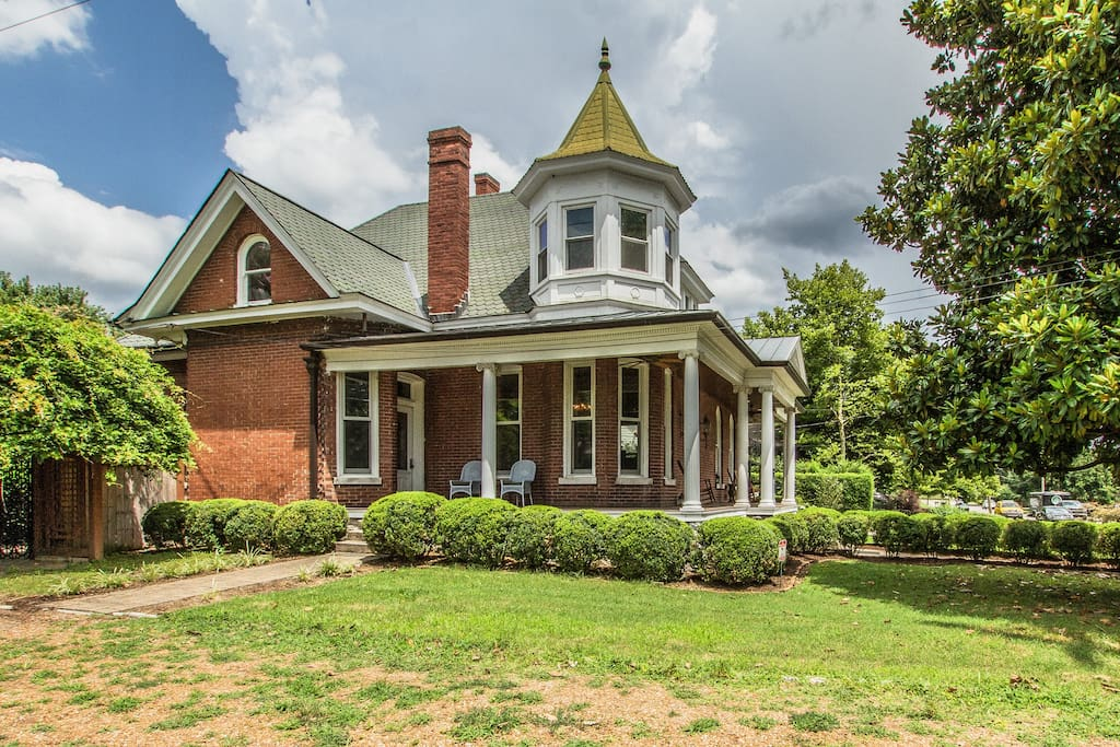 Southern living with a large wrap around front porch.
