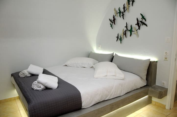 Traditional, yet comfortable built in bed.