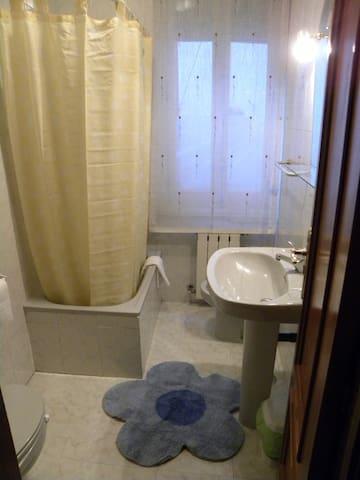 Baño, ducha, Bidé. Compartidos y en perfecto estado de limpieza.