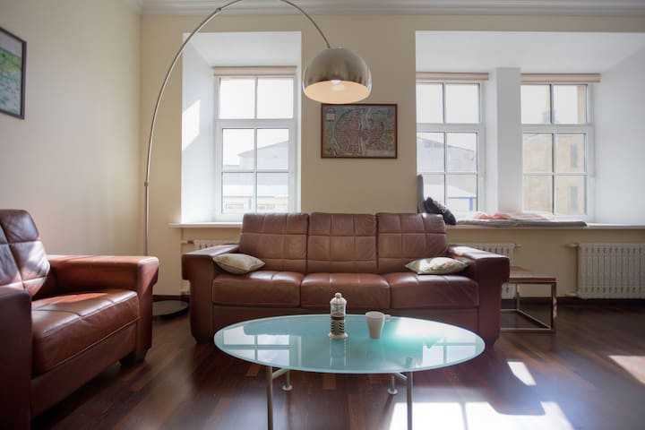Bright spacious elegant apartment by the Hermitage - Sankt-Peterburg - Byt