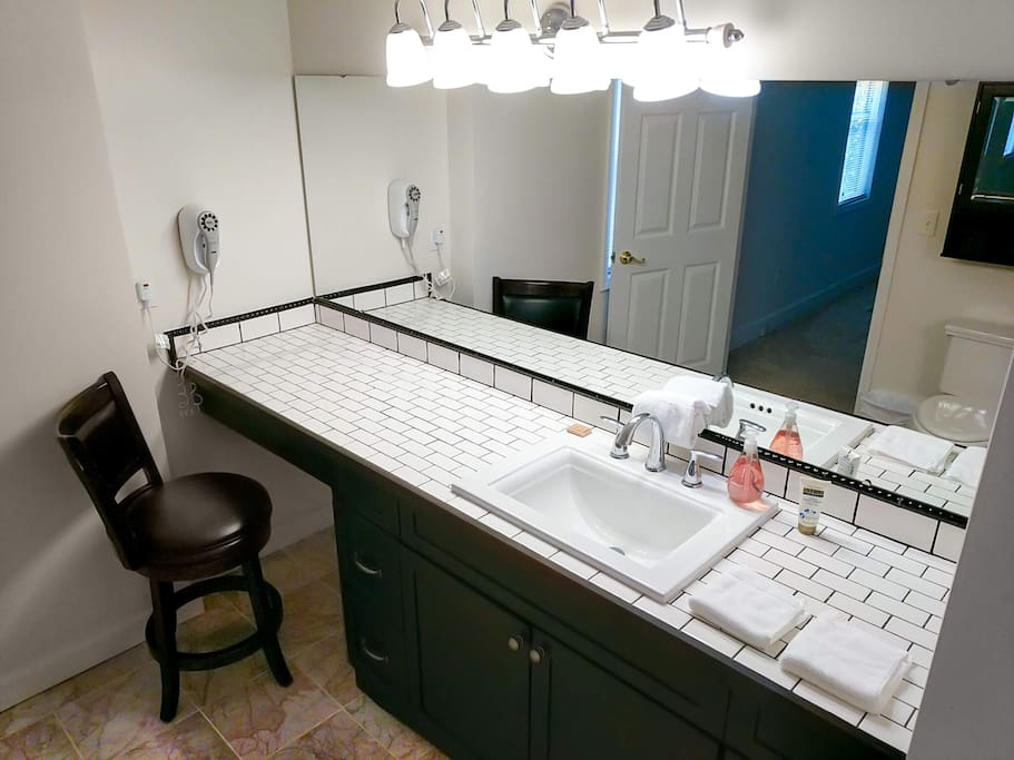 Master bath - personal care items included